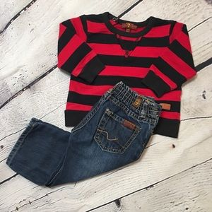 7 For All Mankind sweater and jeans baby boy 12m
